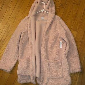 NWT womens XXL super soft fleece, pink jacket